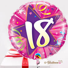 balloons for 18th birthday 18th pink birthday balloon in a box