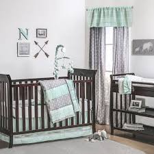 Grey And Green Crib Bedding The Peanut Shell 3 Baby Crib Bedding Set Mint Green And