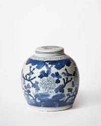 white ginger jar l white antiqued peony ginger jar porcelain bowerbird home