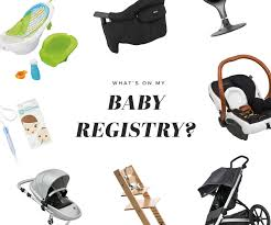 baby register what is on my baby registry blank itinerary