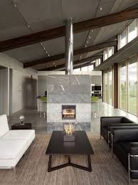 interiors olson kundig living room features marble tile wood