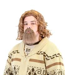 goatee halloween costumes amazon com the big lebowski dude wig and goatee costume set clothing