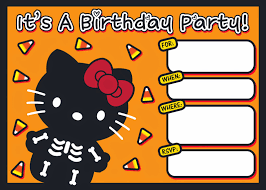 halloween bday party invites i love kawaii free printable halloween hello kitty invitation set