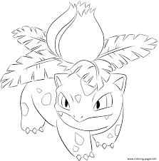 002 ivysaur pokemon coloring pages printable