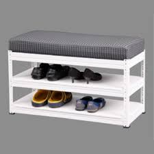 Shoerack Bench Shoe Rack With Pu Cushion Bench Racks Sg