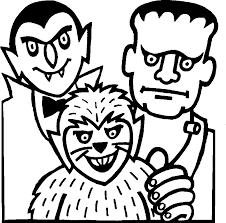 monster coloring pages for halloween kids coloring