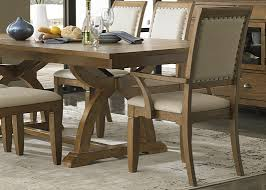 Trestle Dining Table With Solids Rubberwood Distressed Sandstone - Rubberwood kitchen table