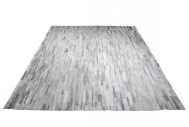Grey Striped Rug White And Gray Patchwork Cowhide Rug In Stripes Design Shine Rugs