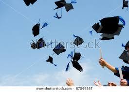 high school graduation caps high school graduation hats high stock photo 83821315