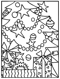 christmas tree decorations coloring pages coloringstar