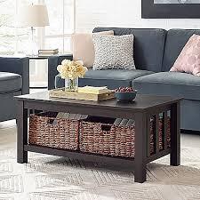 walker edison coffee table walker edison 40 inch storage coffee table bed bath beyond