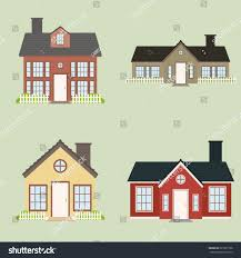 Cute House by Abstract Cute Houses On Light Green Stock Vector 227931796