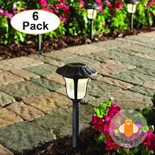 Hampton Bay Solar Path Lights by Hampton Bay Bronze Solar Led Pathway Outdoor Light 6pack Garden