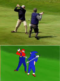 Golf Meme - mario and sonic savage golf meme by kirby bros on deviantart