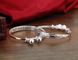 sterling silver bracelet designs images Online shop baby 39 s 925 sterling silver bracelet brocade carp jpg