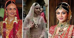 bridal jewellery 6 brides who looked like in their intricate