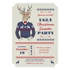 sweater invitations announcements zazzle
