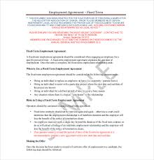 19 employment agreement templates u2013 free sample example format