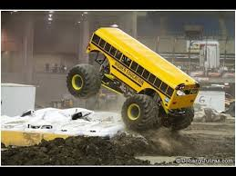 bus monster truck videos huge bus monster truck higher education monster truck youtube