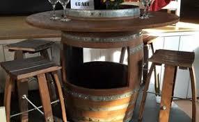 Wine Barrel Patio Table Unique Personalized Wine Barrel Table Hometalk