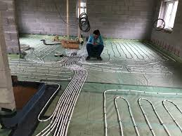 ufh spacing between feed and return underfloor heating