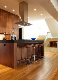 Contemporary Walnut Kitchen Cabinets - what colors to choose for the living room to go with walnut
