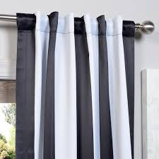 Black And White Vertical Striped Shower Curtain Exclusive Fabrics Black And White Vertical Striped Blackout