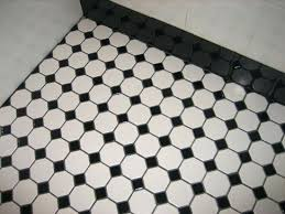 black white checkerboard vinyl floor tiles and ceramic tile