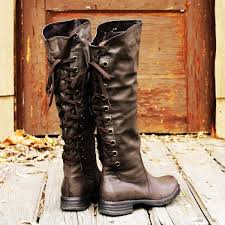 womens boots zip up back 2014 style black lace up leather boots for knee high