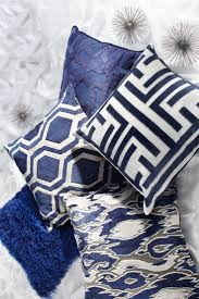 Sofa Pillows Large by Pillows Navy Blue Throw Pillow For Couch With Geometric Design