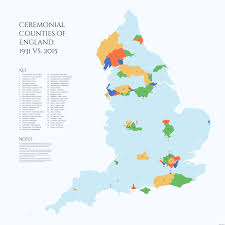 Derbyshire England Map by Ceremonial Counties Of England 1931 Vs 2015 By Alasdairgunn On