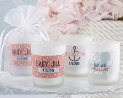 candle baby shower favors personalized glass votive nautical baby shower candle favors