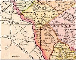 Georgia South Carolina Map Port Royal U0026 Augusta Railway 1892 Map