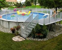 ideas above ground pool landscaping u2014 porch and landscape ideas