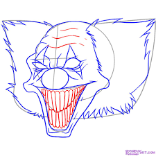 how to draw killer clowns step by step tattoos pop culture