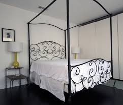 wrought iron canopy bed frame queen home design ideas