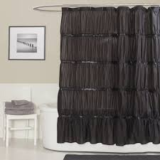 White And Black Shower Curtains York Fabric Shower Curtain Black In Shower Curtains And Gallery