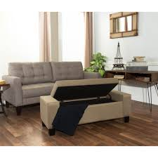 furniture tufted storage bench upholstered storage bench
