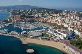 cannes corporate event yacht charter mipim cannes lions aerial view of cannes port during mapic