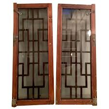 antique and vintage windows 234 for sale at 1stdibs pair of chinese carved mahogany and smoke glass windows