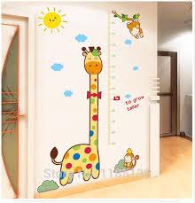 stickers girafe chambre bébé mignon wall sticker girafe bébé enfant chambre décoration hauteur