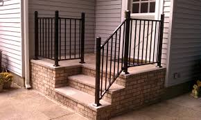 2 Step Handrail Stairs Marvellous Railings For Front Steps Iron Railings For