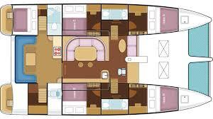 Catamaran Floor Plans Catamaran Nautiness Ii Layout U2013 Luxury Yacht Browser By