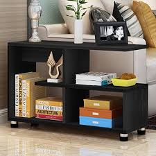 side table tribesigns black finish wooden end table works as sofa