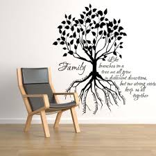 family tree root names simply simple family tree wall decals