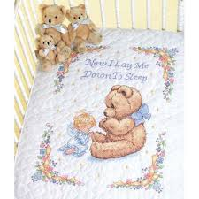Baby Duvet Dimensions Sweet Prayer Baby Quilt Stamped Cross Stitch
