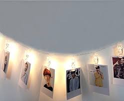 string lights with picture clips shhe usb powered photo clips pegs string lights 5m 30 led fairy