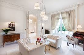 country white living room filled with monochromatic interior color