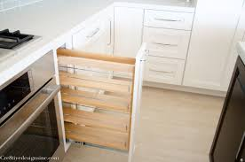 Kitchen Cabinets Spice Rack Pull Out Kitchen Remodel Using Lowes Cabinets Cre8tive Designs Inc