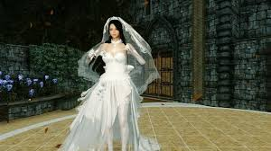 wedding dress skyrim haku wedding dress hdt preview